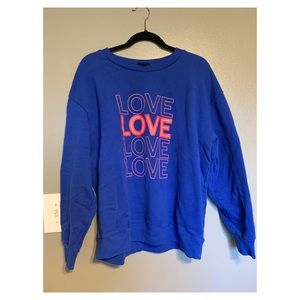 "J Crew ""Love"" Sweatshirt"